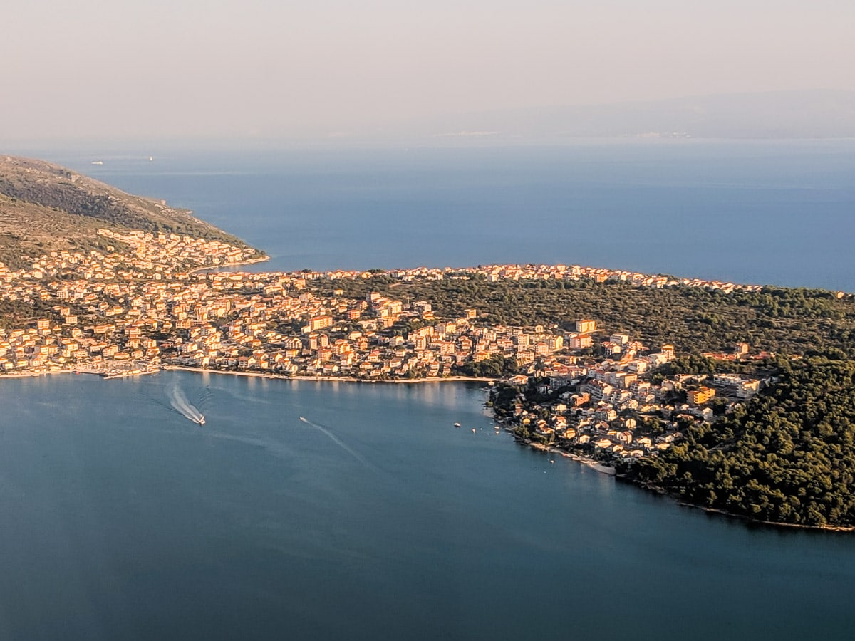 View coming in to land in Split, Croatia
