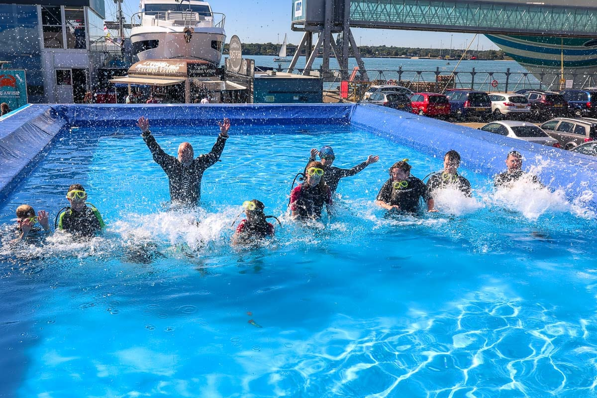 Try-a-dive at the Southampton Boat Show