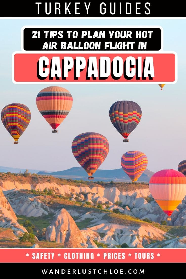 21 tips to plan a hot air balloon flight in Cappadocia
