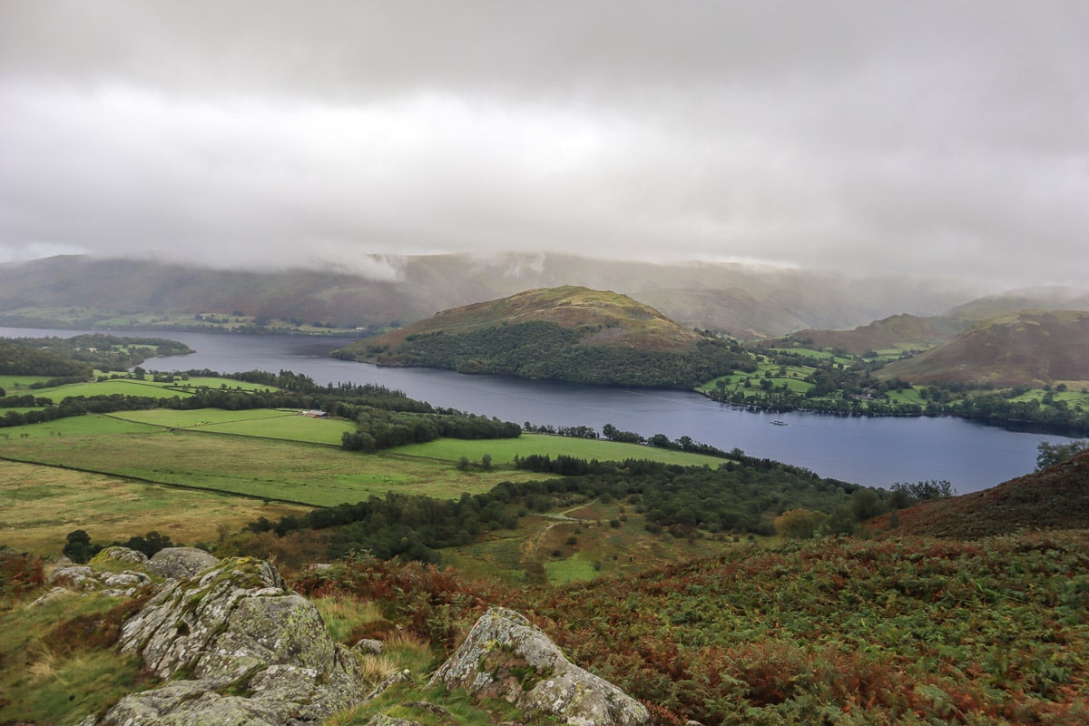 Views of Ullswater on the Aira Force hike
