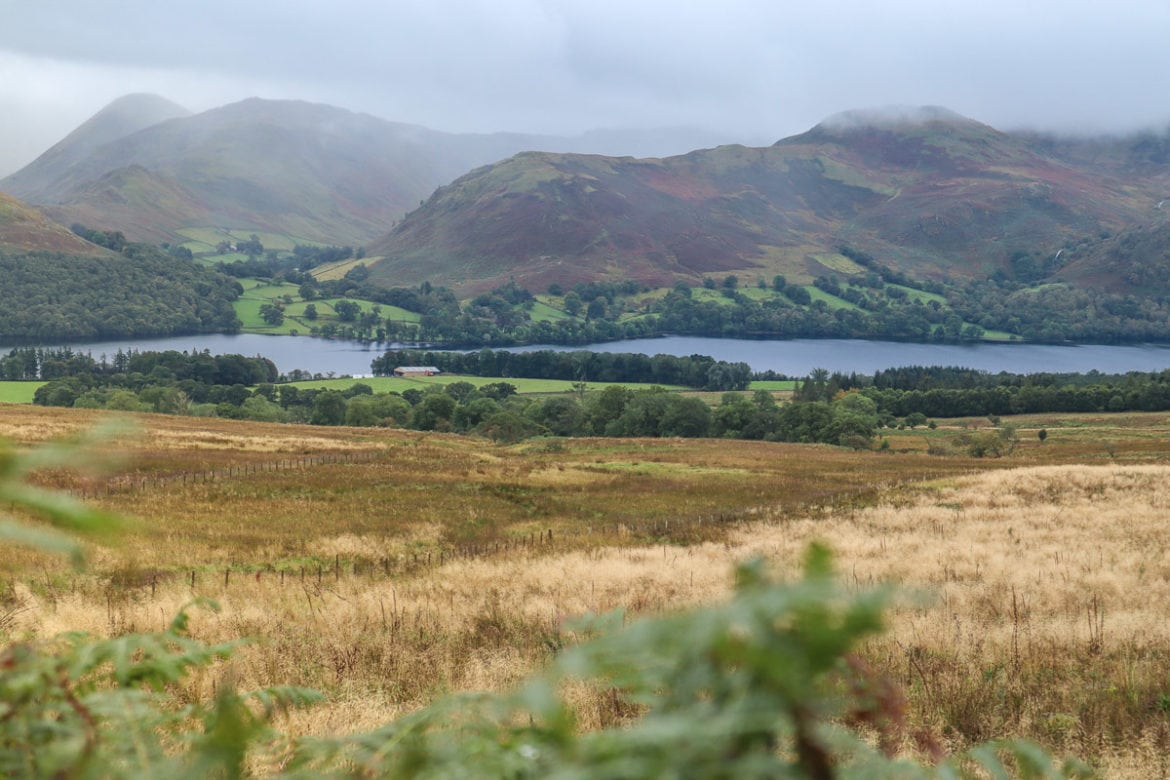 Beautiful views of Ullswater in the Lake District