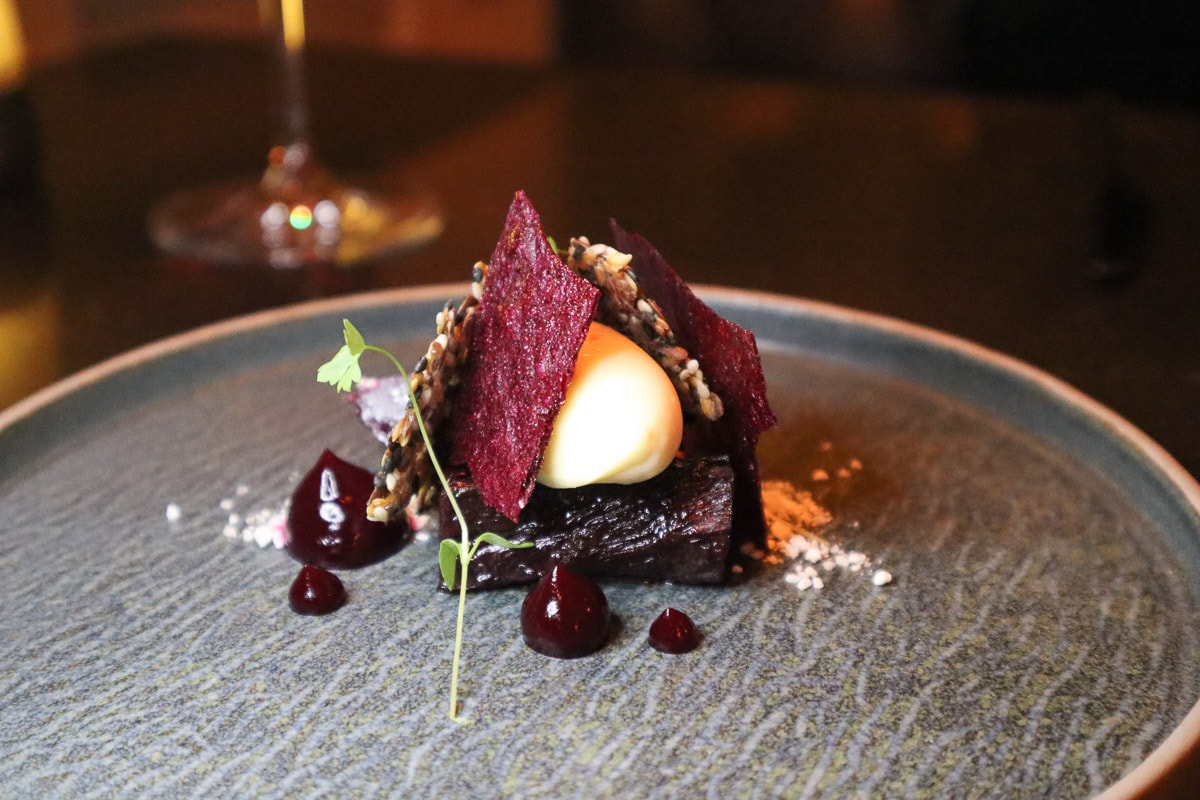 Beetroot starter at 1863 Restaurant