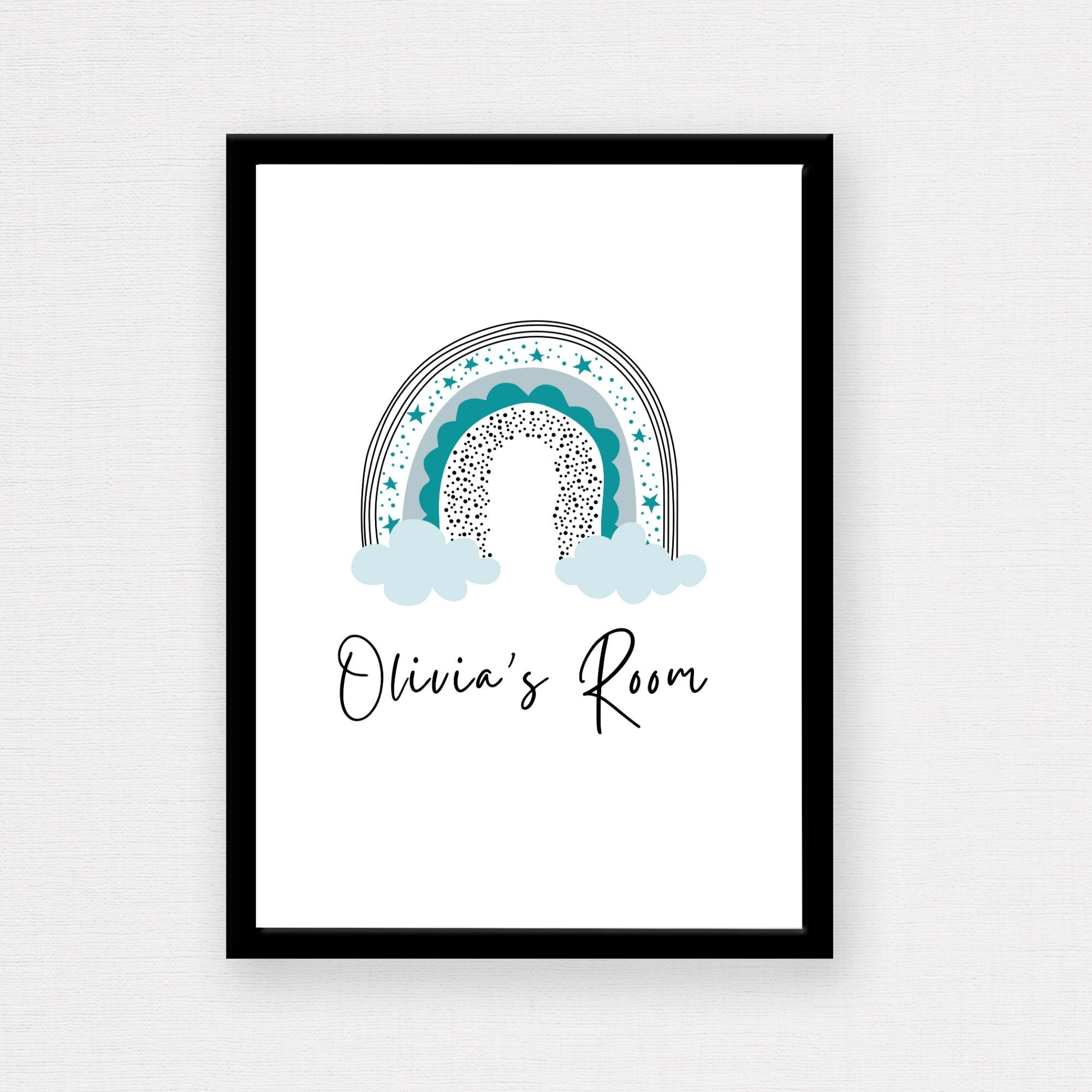 How lovely is this personalised rainbow poster