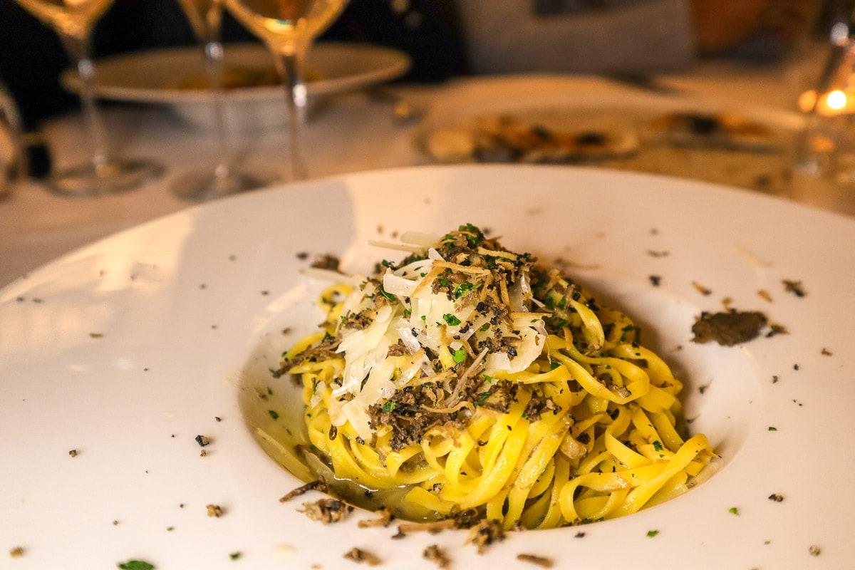Truffle pasta at Leon d'Oro