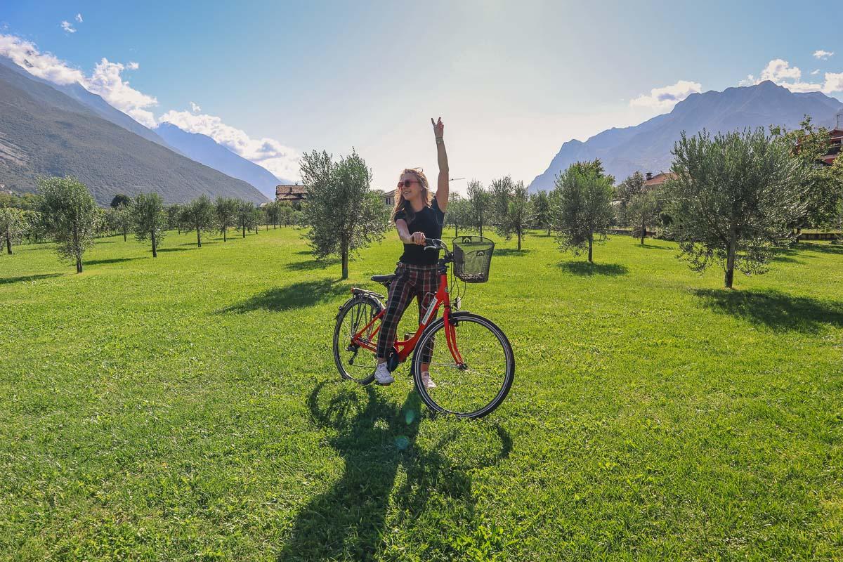 Cycling is popular in Lake Garda