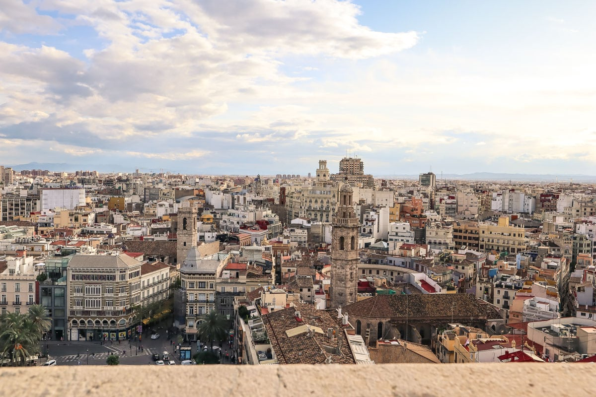 View from the top of El Miguelete, Valencia Cathedral