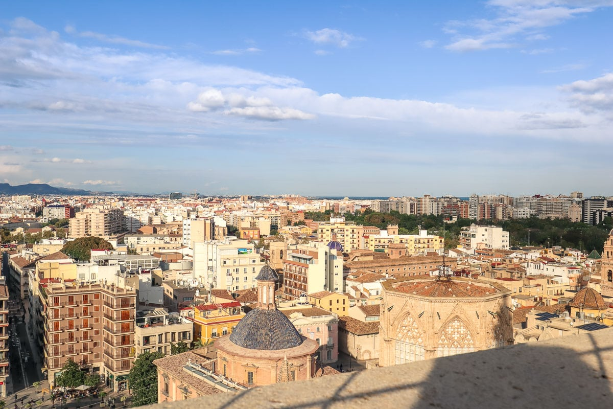 Panoramic views of Valencia from El Miguelete, Valencia Cathedral