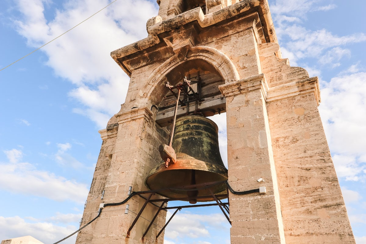 Miguel the bell - top of Valencia Cathedral bell tower