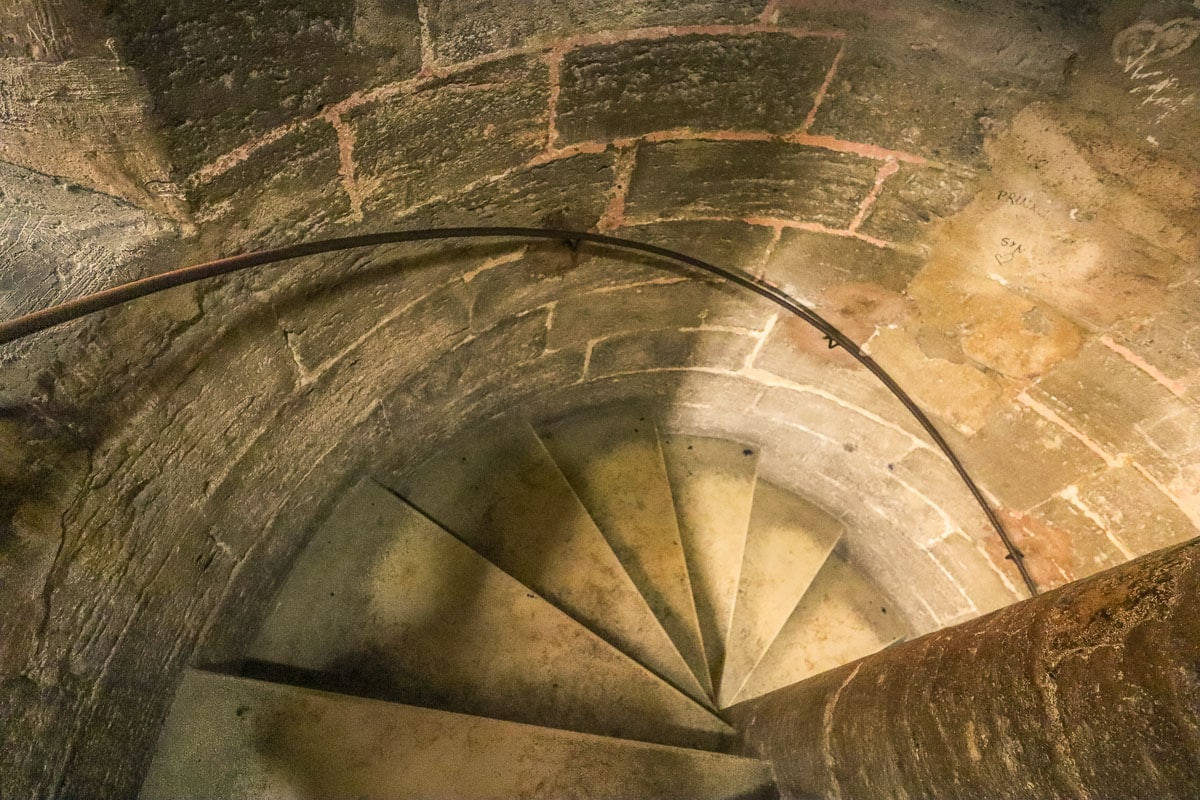 Spiral stairs in El Miguelete, Valencia Cathedral