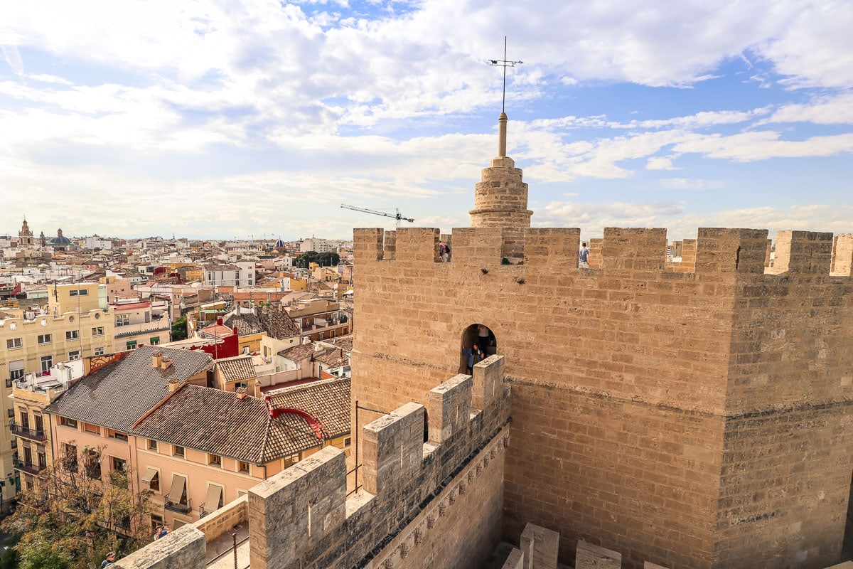 Looking to the second tower at Torres de Serranos, Valencia