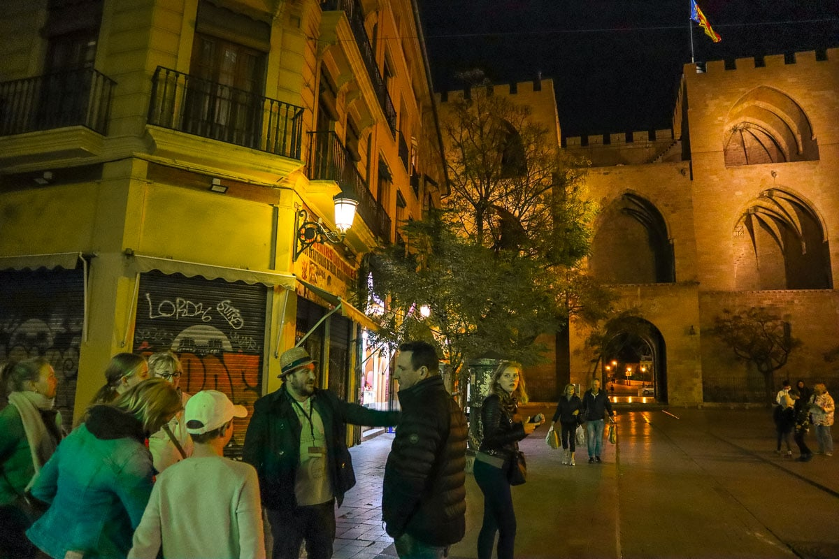 Exploring the city on a Valencia food tour