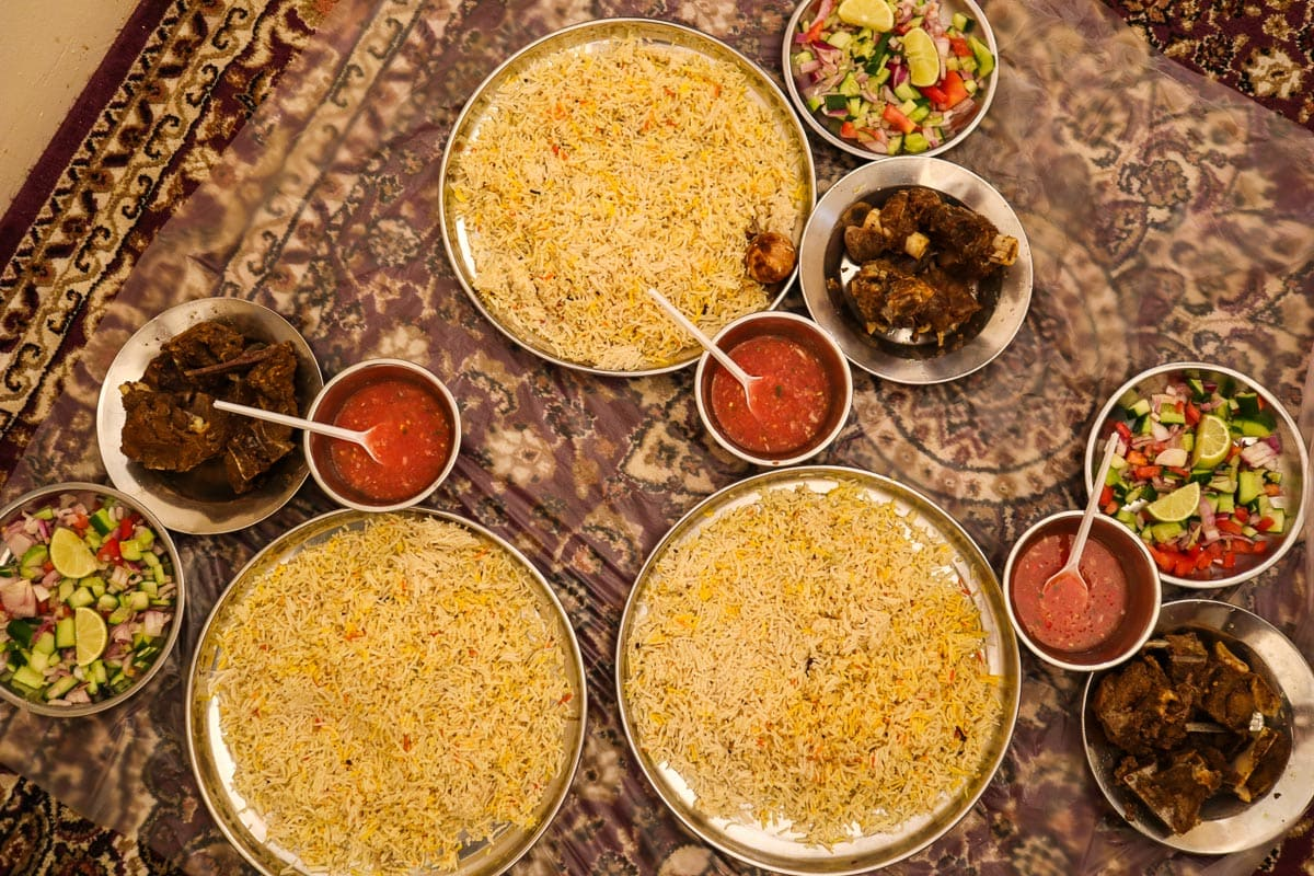 Shuwa - un plat traditionnel d'Oman