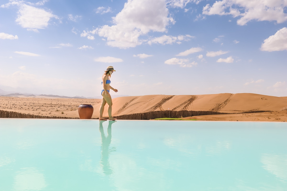 The pool at Dunes by Al Nadha in Oman