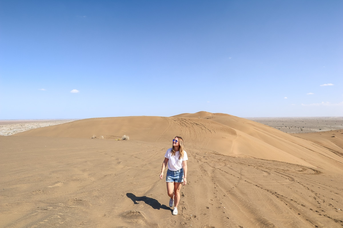 Exploring the sand dunes in Oman