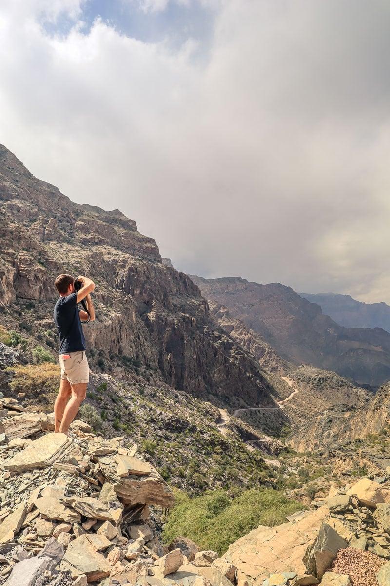 Views of Wadi Bani Awf in Oman