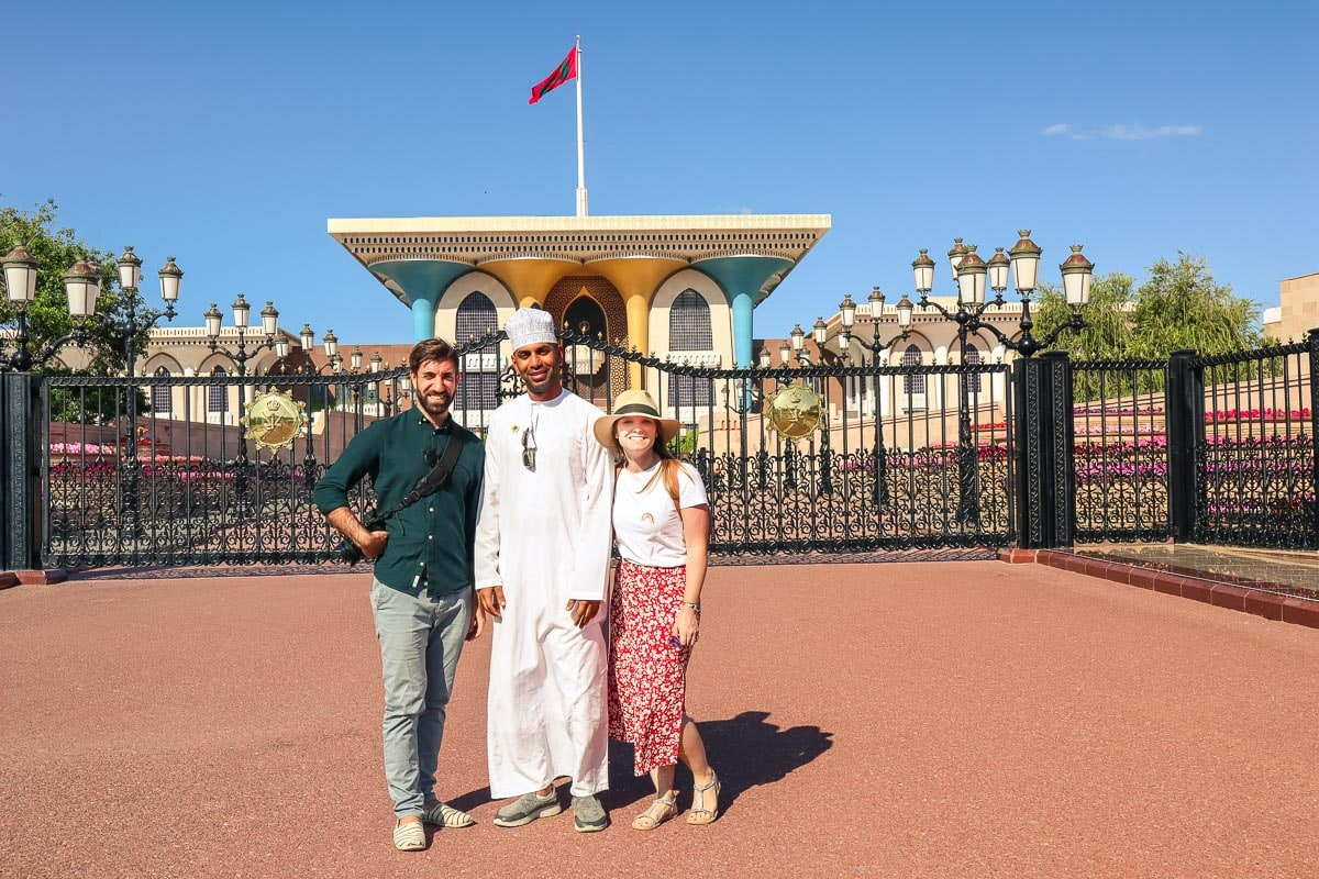 Exploring Muscat, at the Sultan's Palace