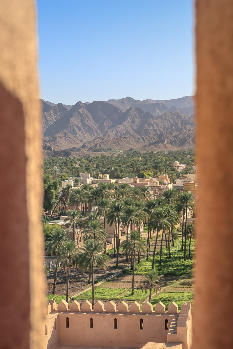 View from Rustaq Fort, Oman