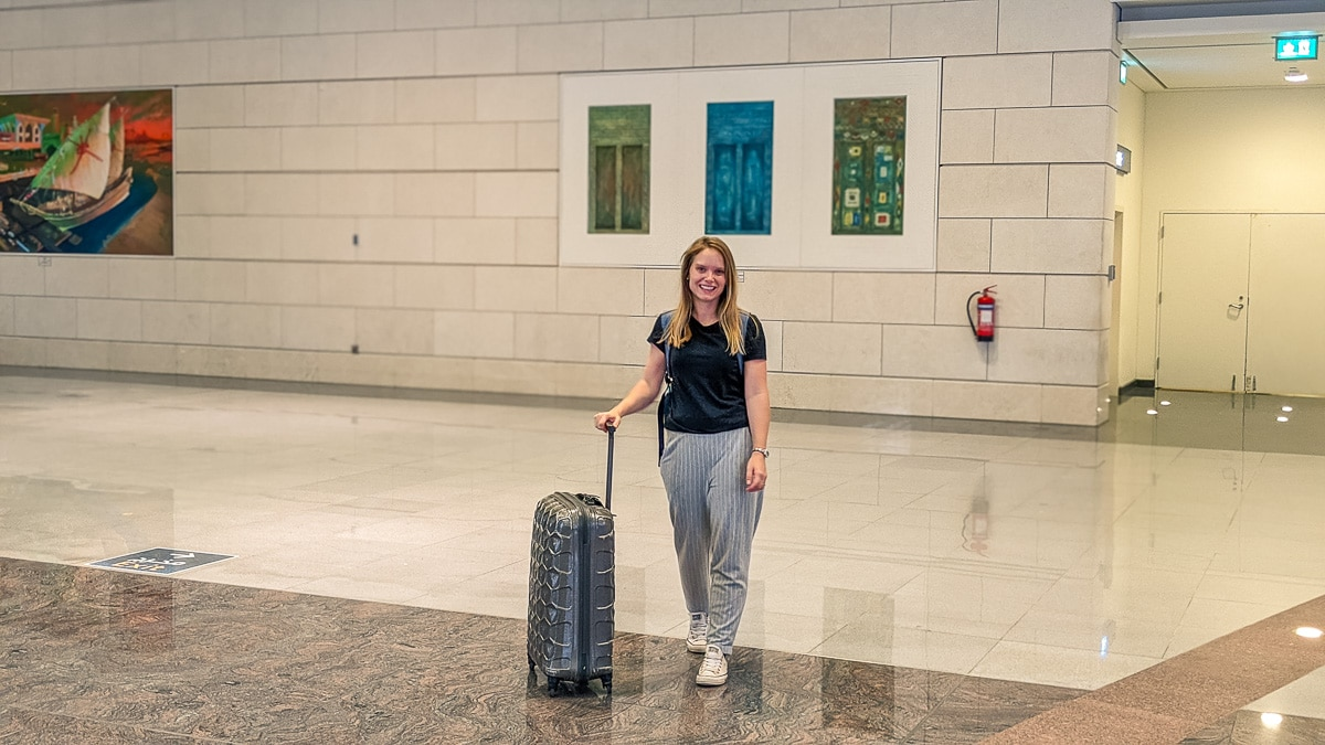 Arriving in Muscat after a 7 hour flight from London