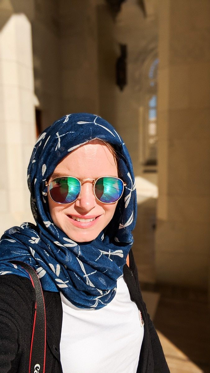 Ready to explore the mosque in Oman