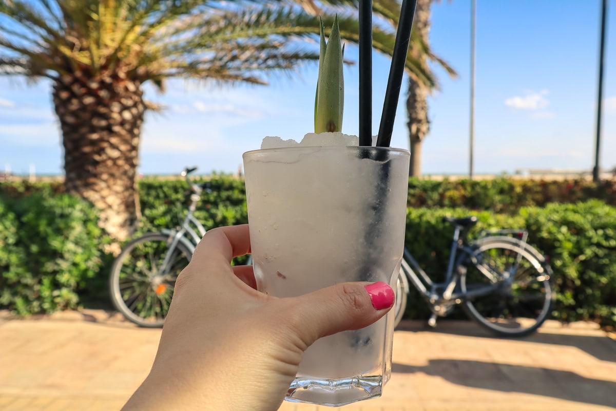 Cocktails on Valencia beach