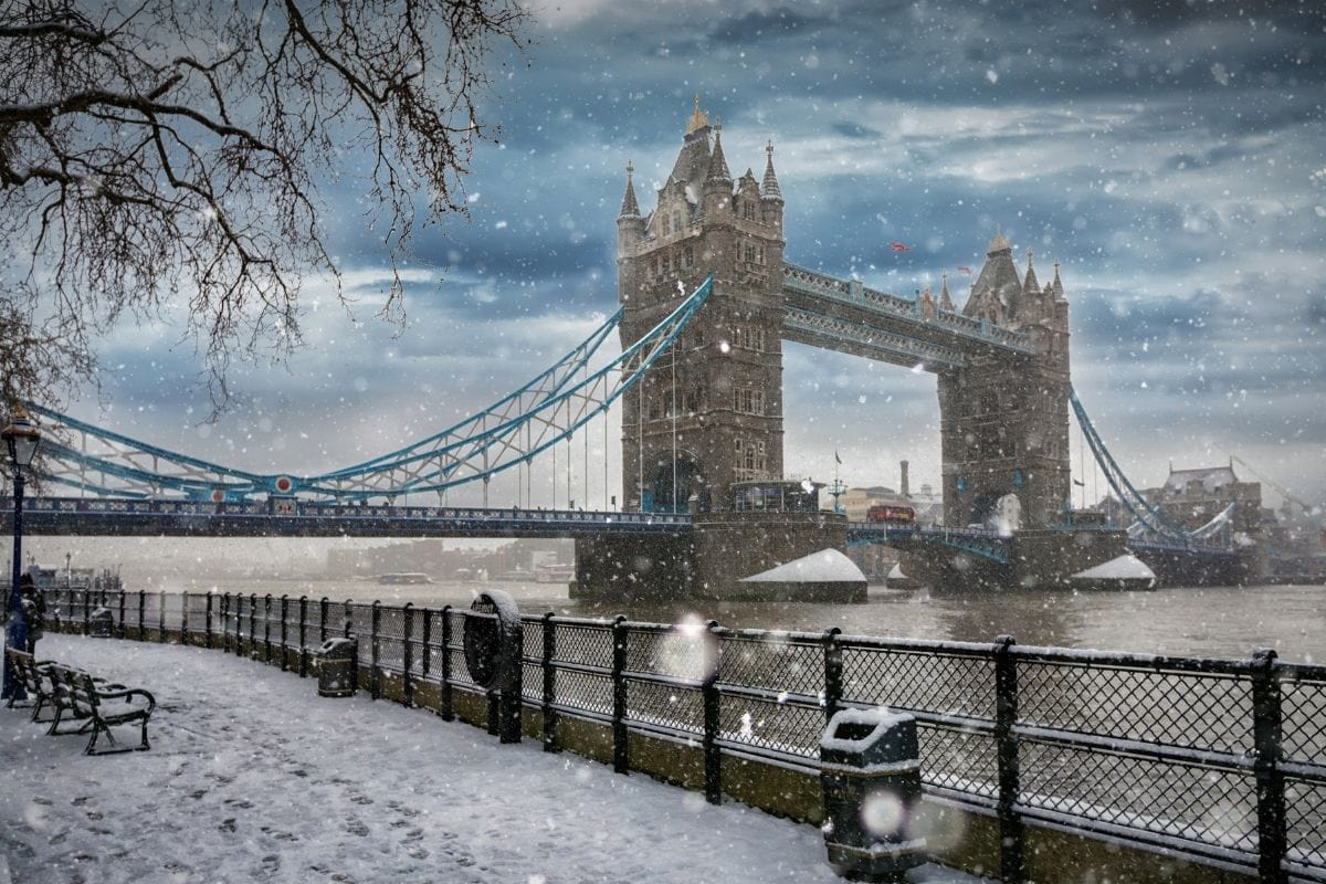 Tower Bridge in the snow