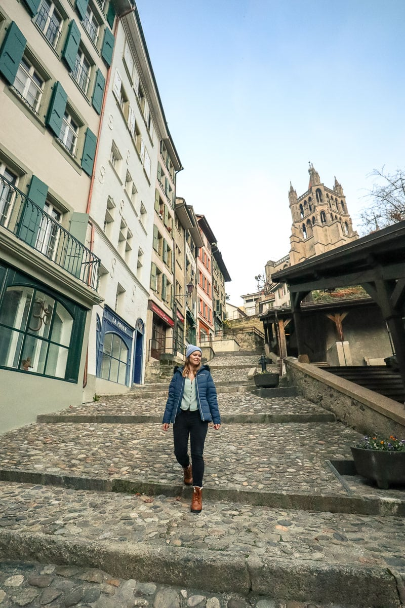 Exploring Lausanne city centre