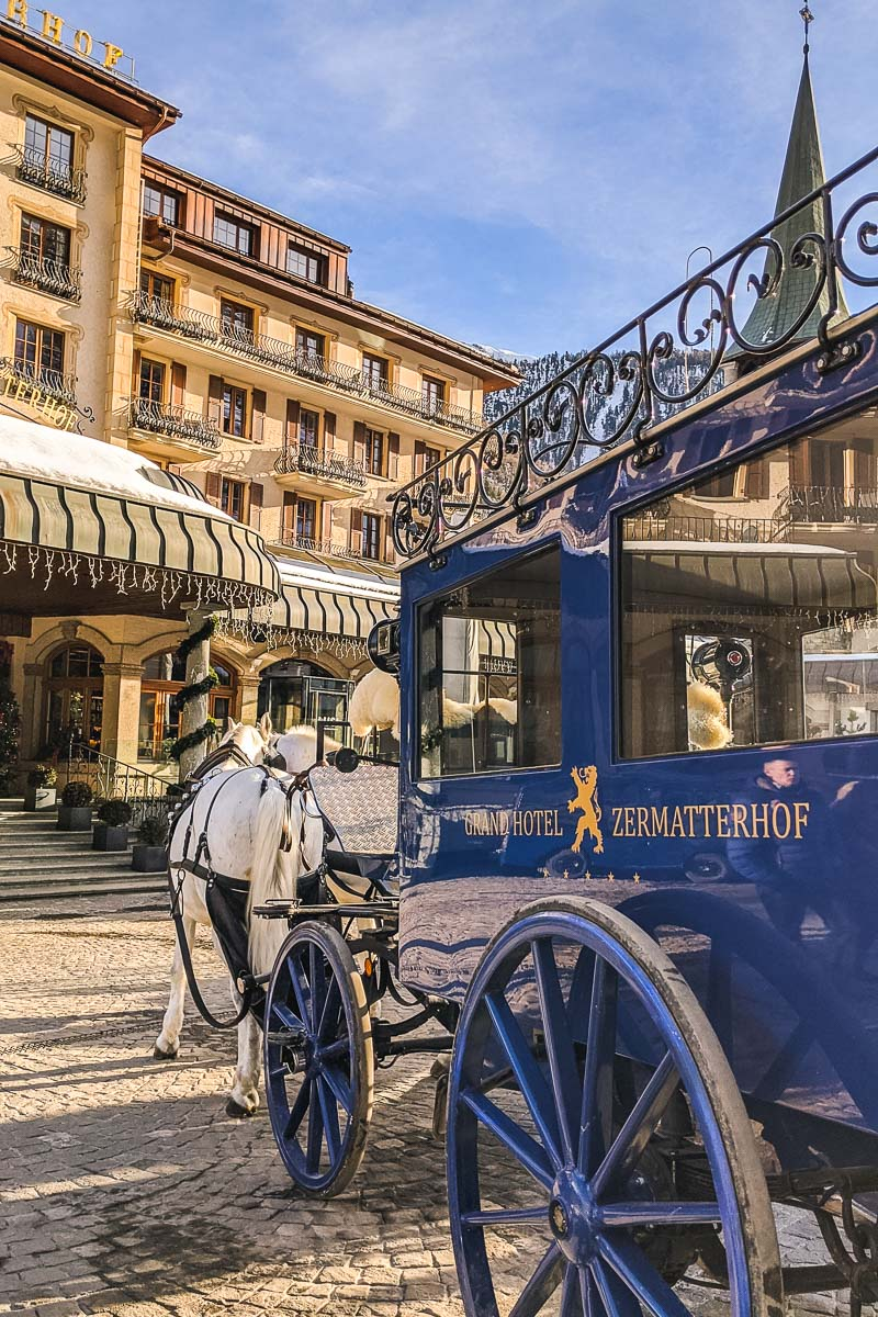 Horse and carriage at Grand Hotel Zermatterhof