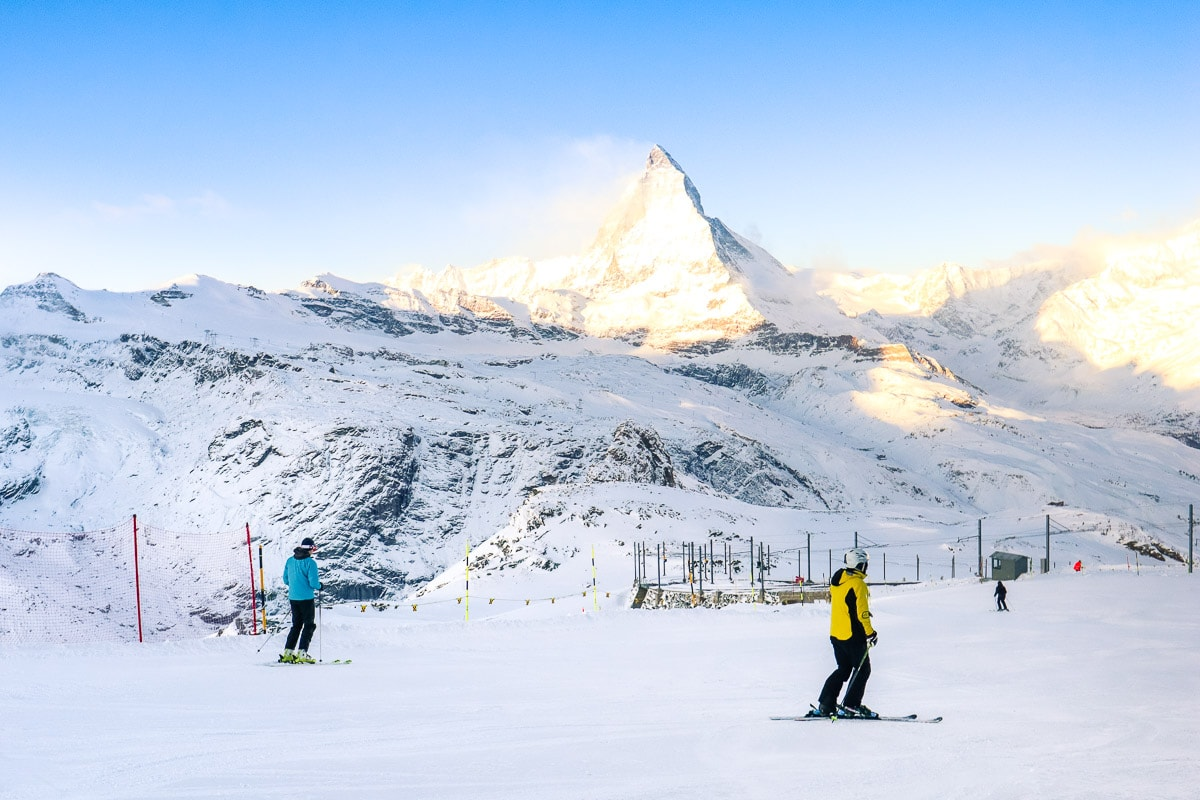 Skiers at Gornergrat