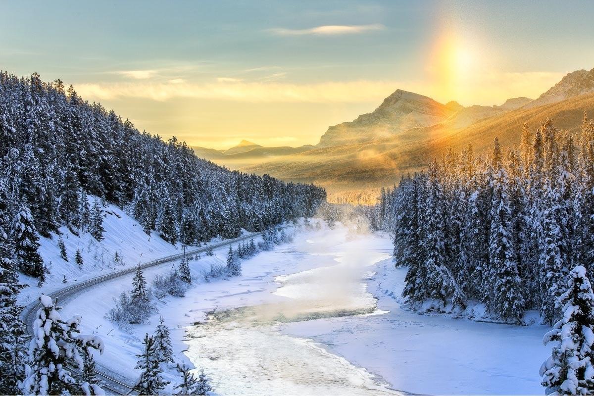 Spectacular views in Alberta in winter