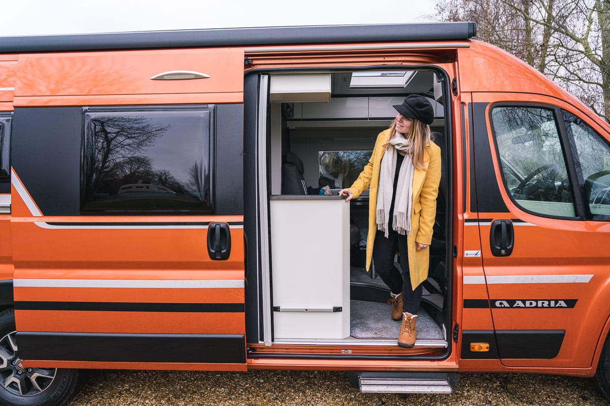 Enjoying our Adria van
