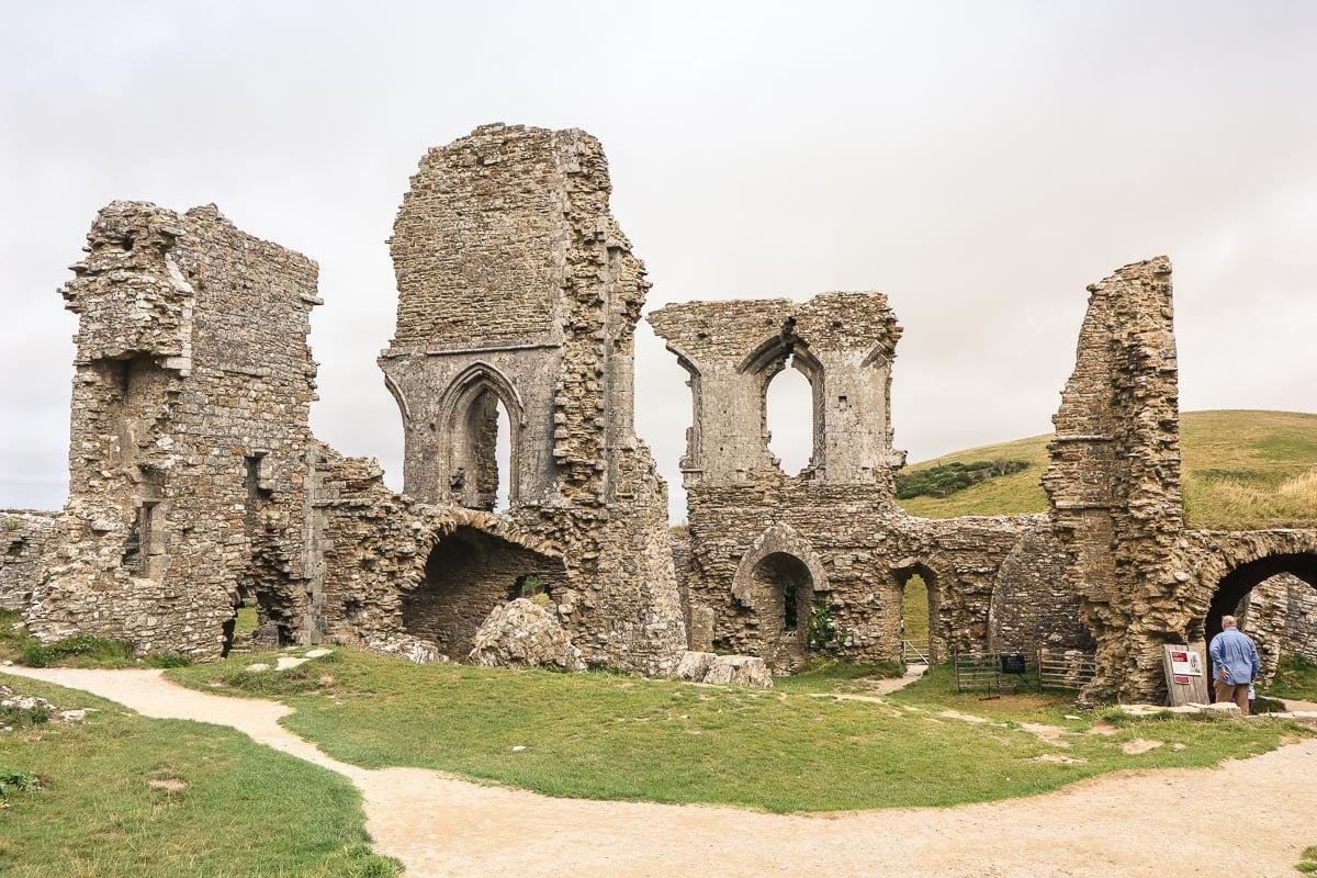 The ruins of Corfe Castle, Dorset