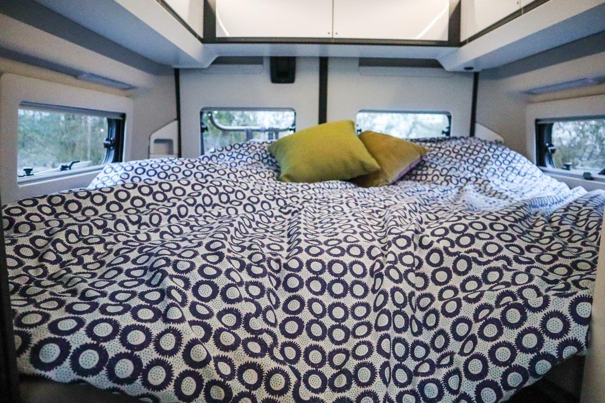 Bed in our Adria van