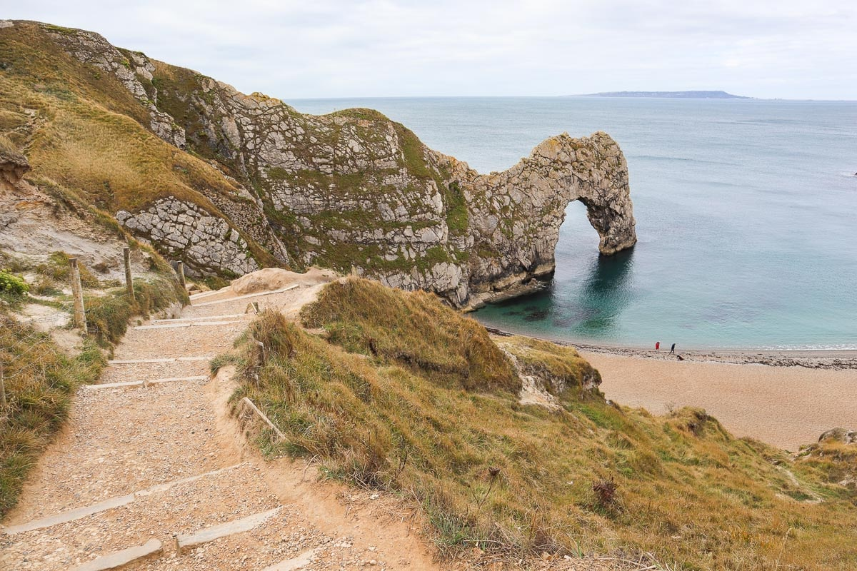 The path to Durdle Door Beach, Dorset