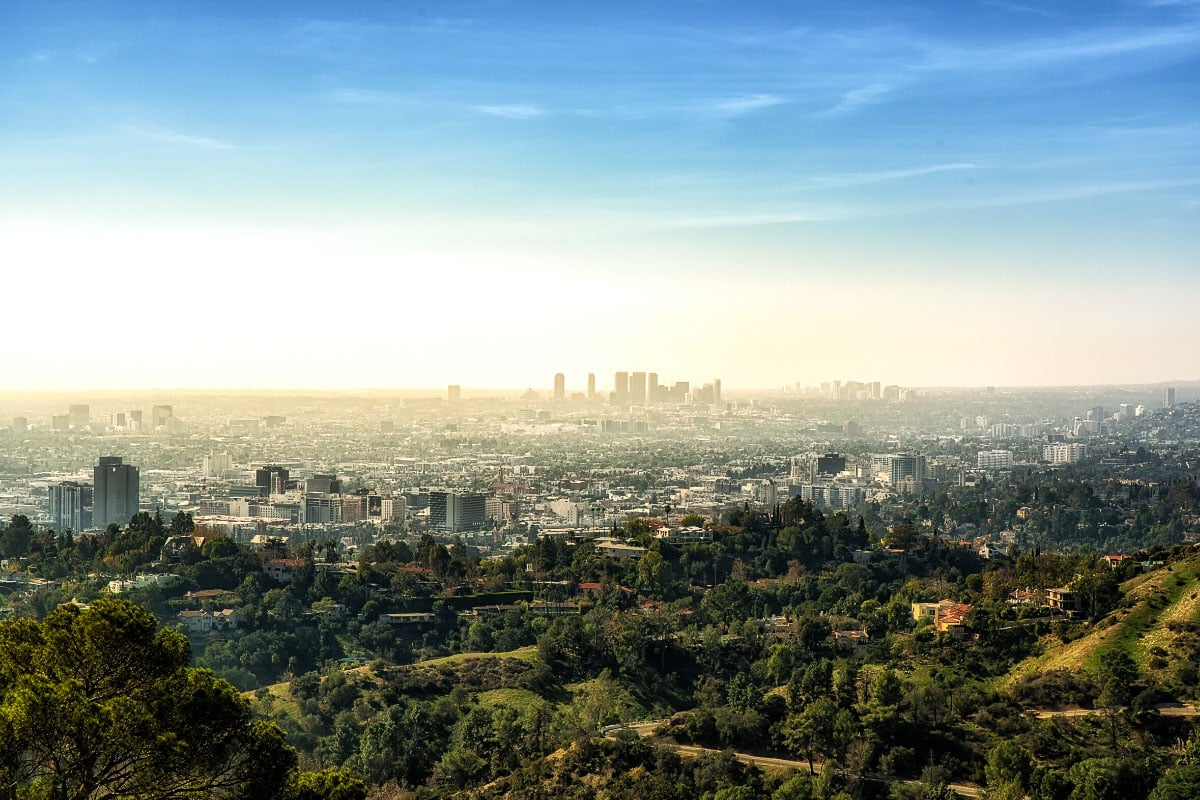 Incredible views over Los Angeles