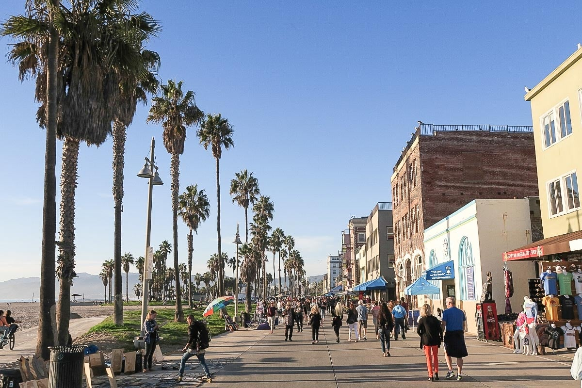 Walk along the boardwalk in Venice Beach - a must on any Los Angeles itinerary