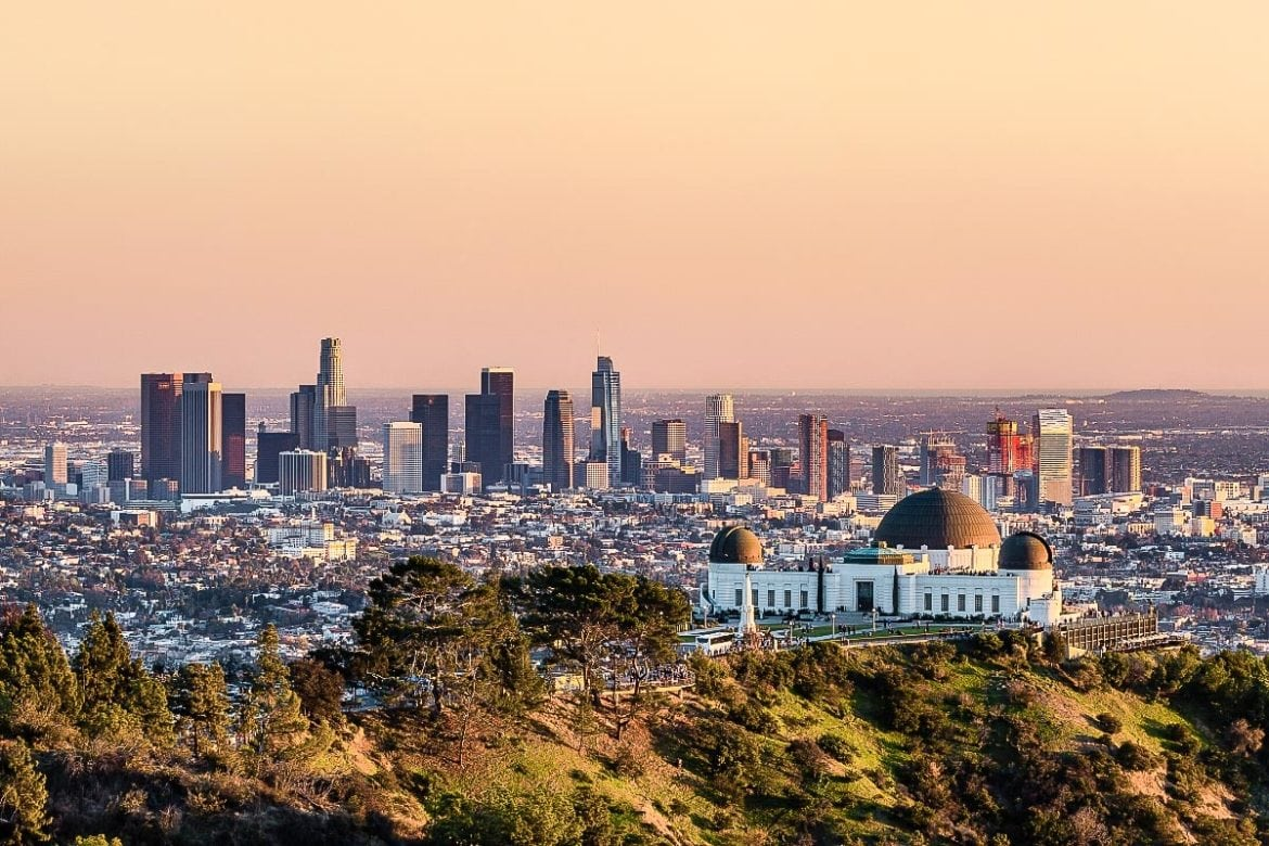 Sunset at Griffith Observatory, Los Angeles