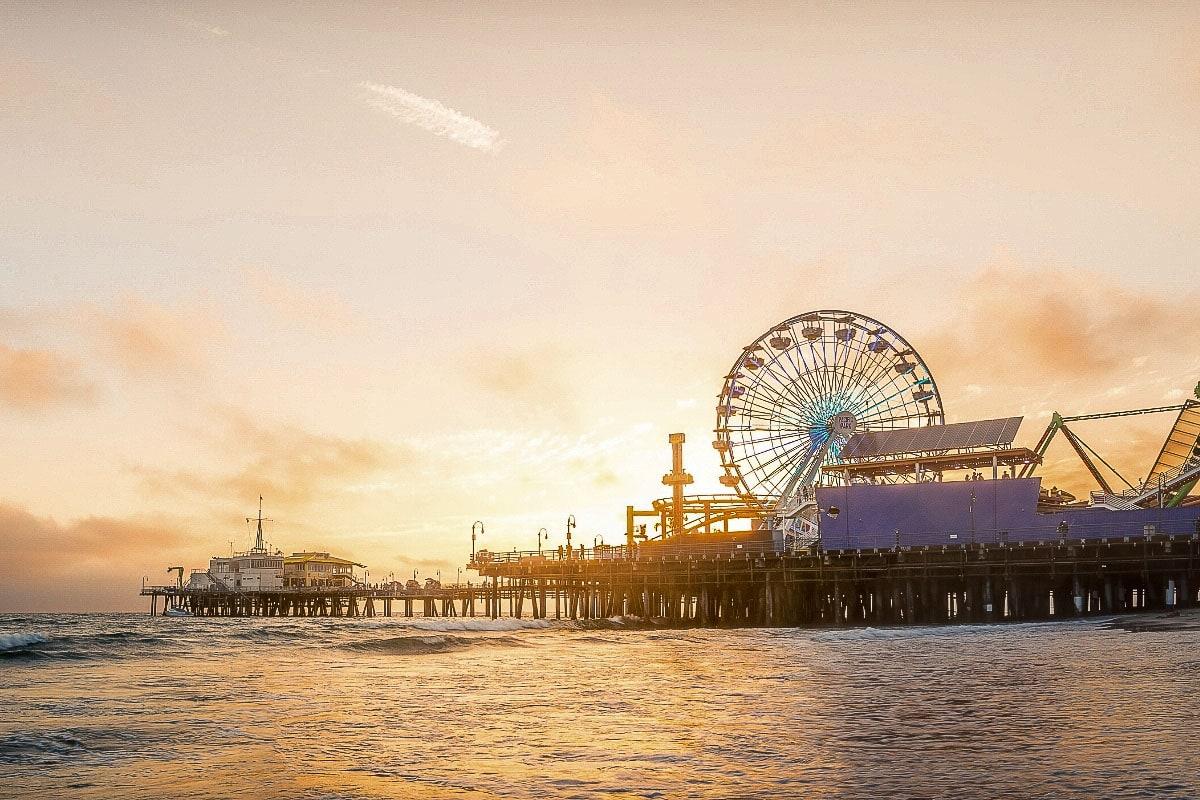 Santa Monica pier, LA