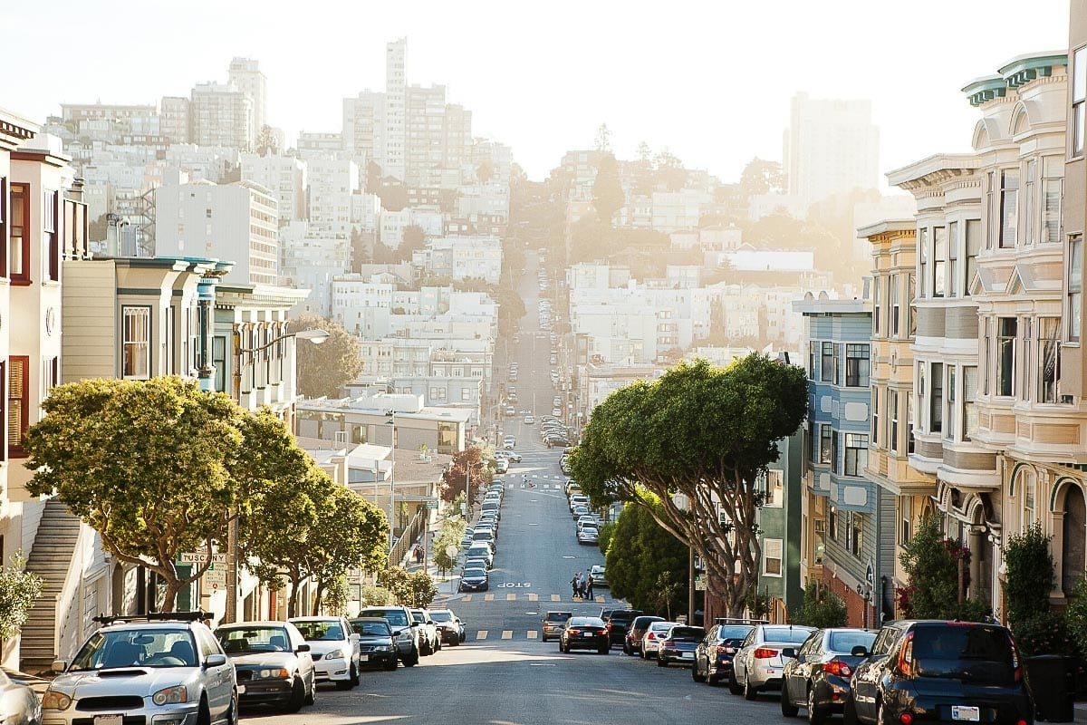 Steep streets in San Francisco