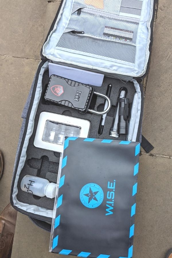 Our backpack of gadgets for AIM Escape London