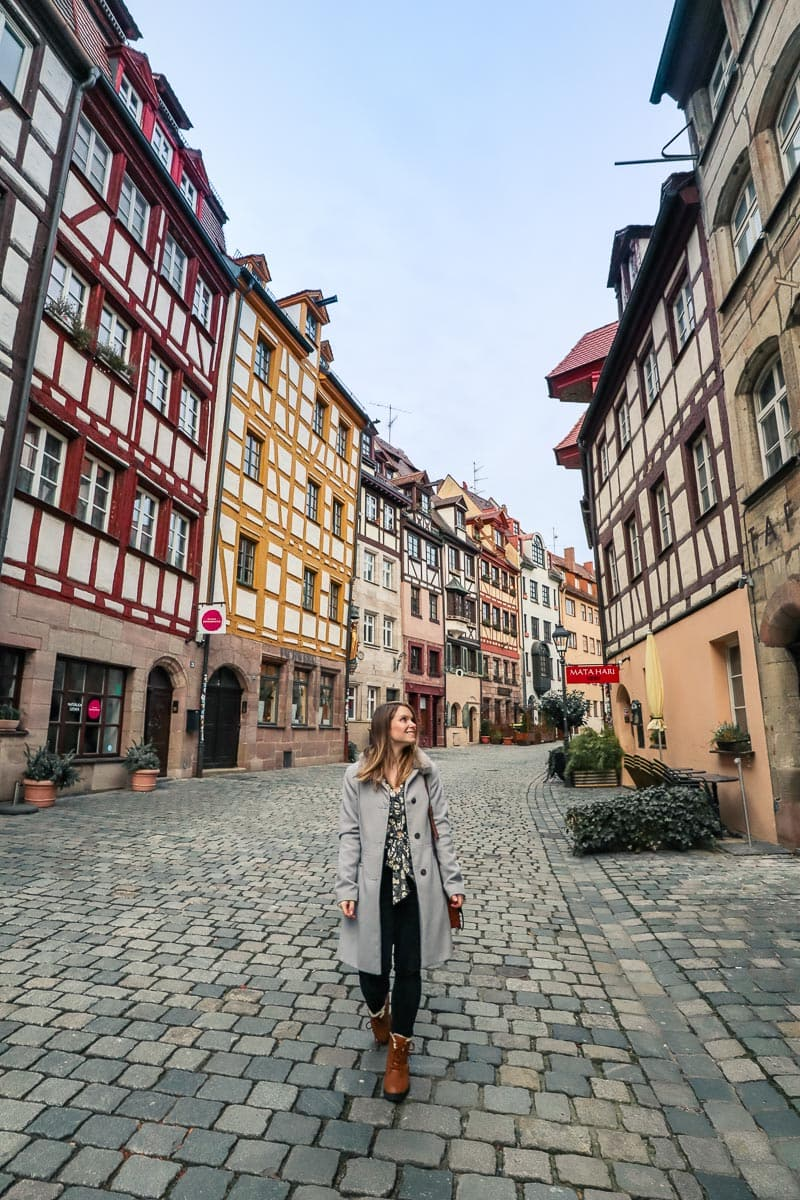 Walking down Weissgerbergasse, Nuremberg