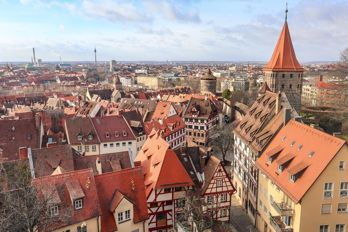 View from Nuremberg Imperial Castle