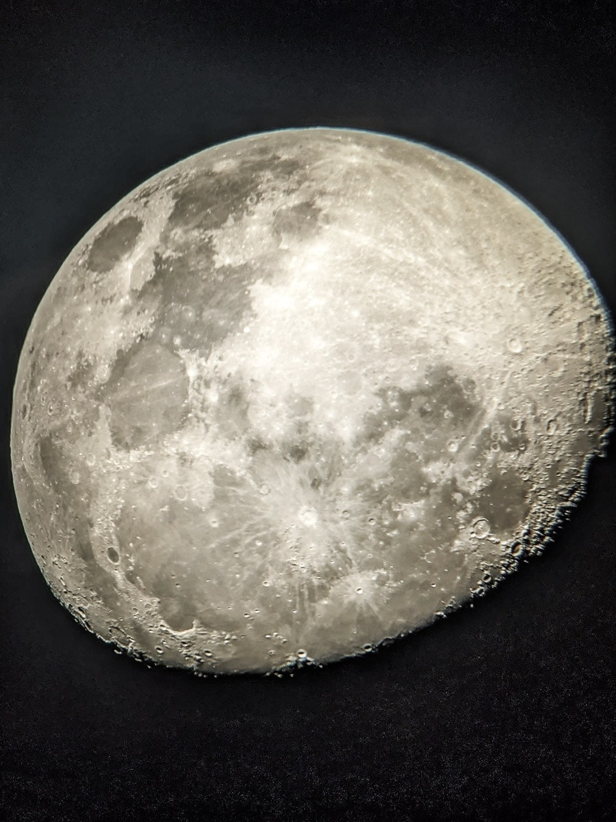 The moon (taken on my Google Pixel 4 - through a telescope!)