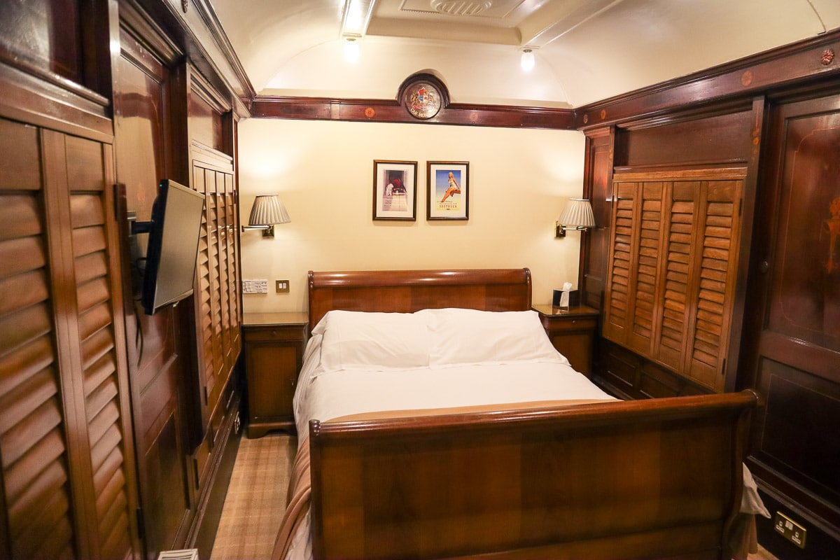 Inside our Pullman carriage at The Old Station