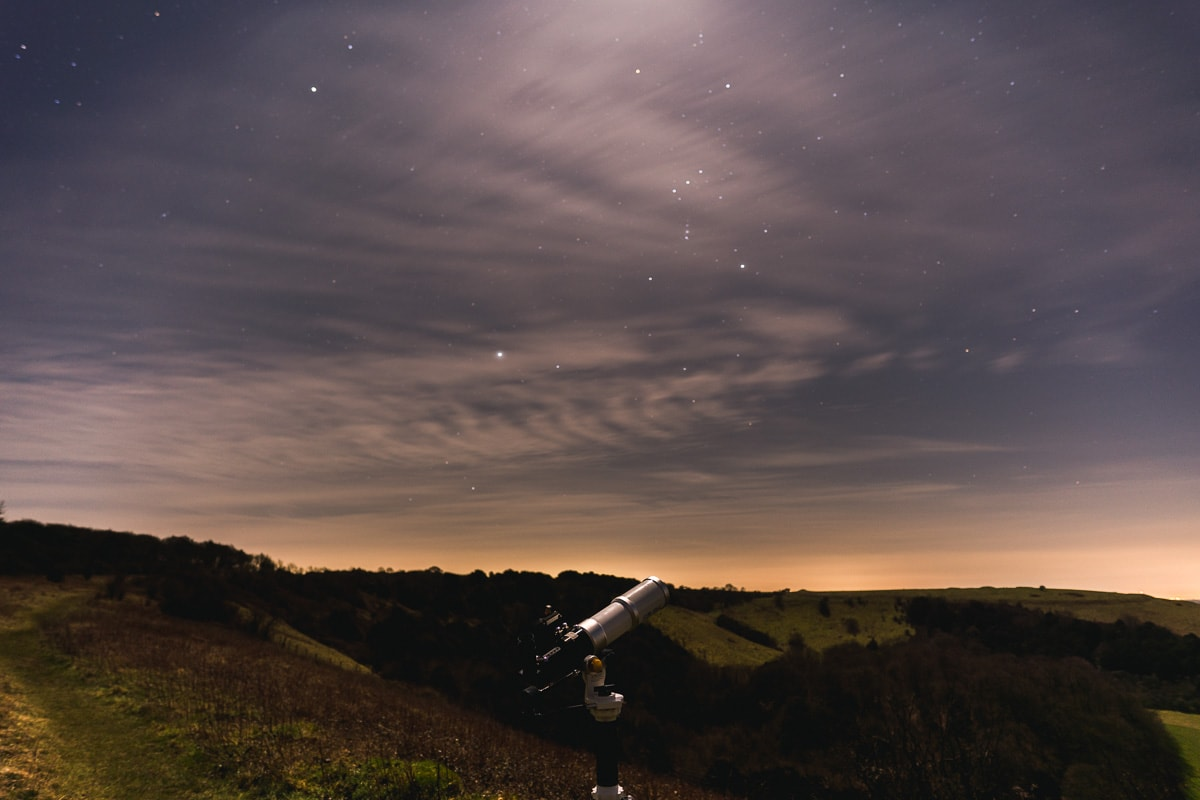 Stargazing in the South Downs, England