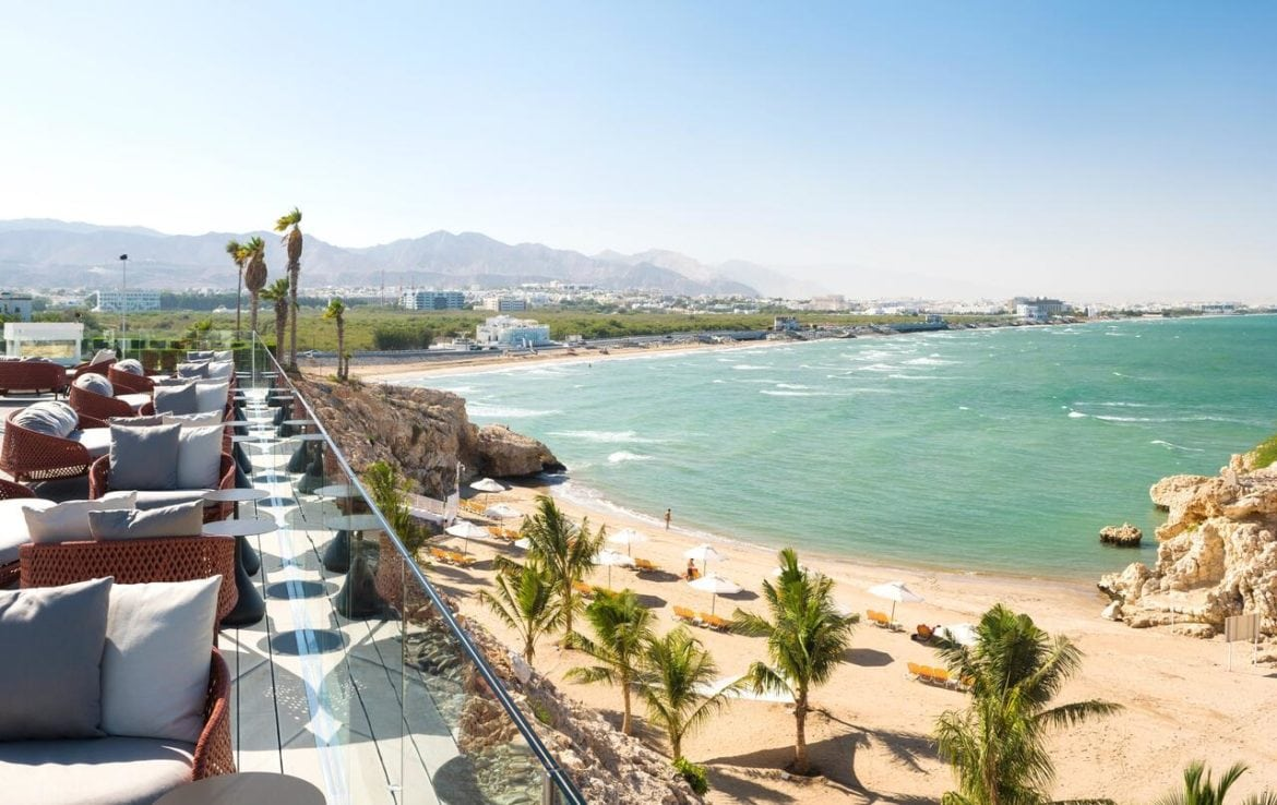 Bay views from the Crowne Plaza Muscat