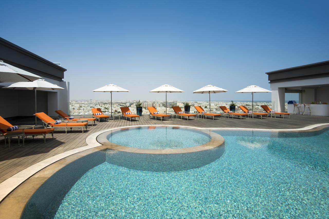 Rooftop pool at Fraser Suites Muscat