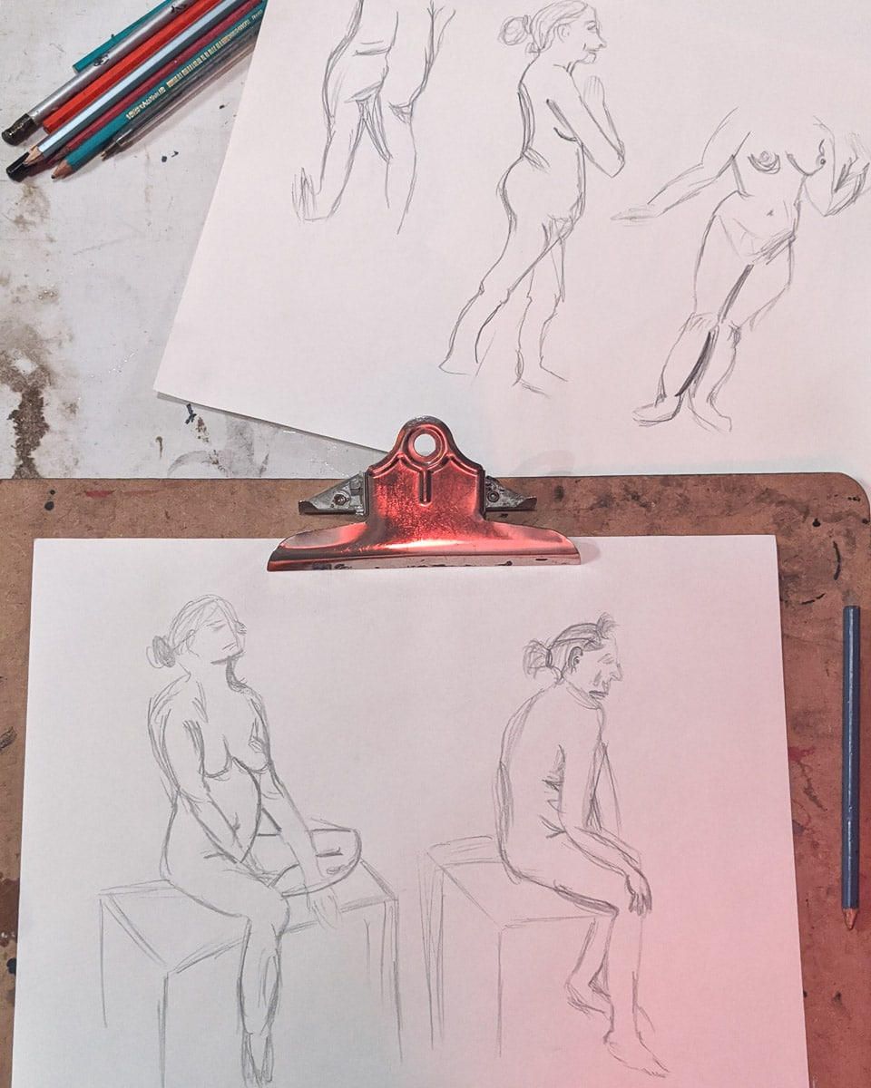 Life drawing class in Norwich
