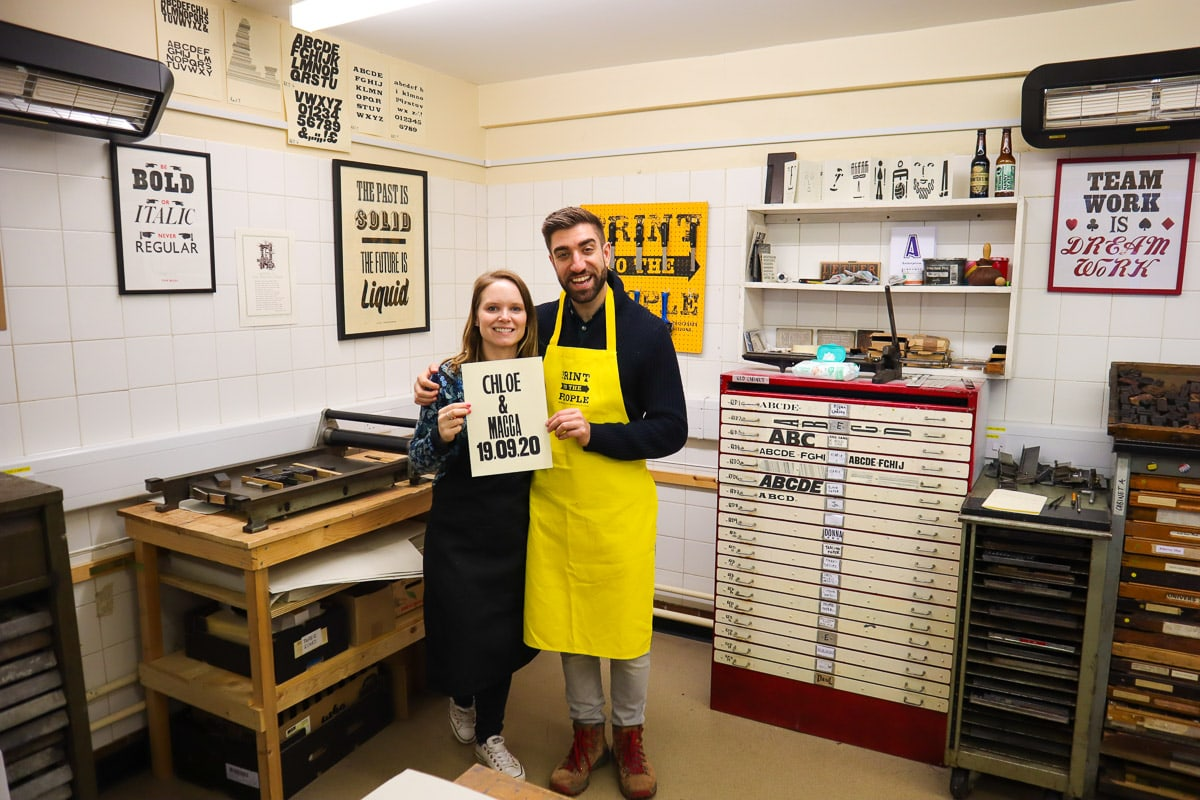 Learning about letterpress printing in Norwich