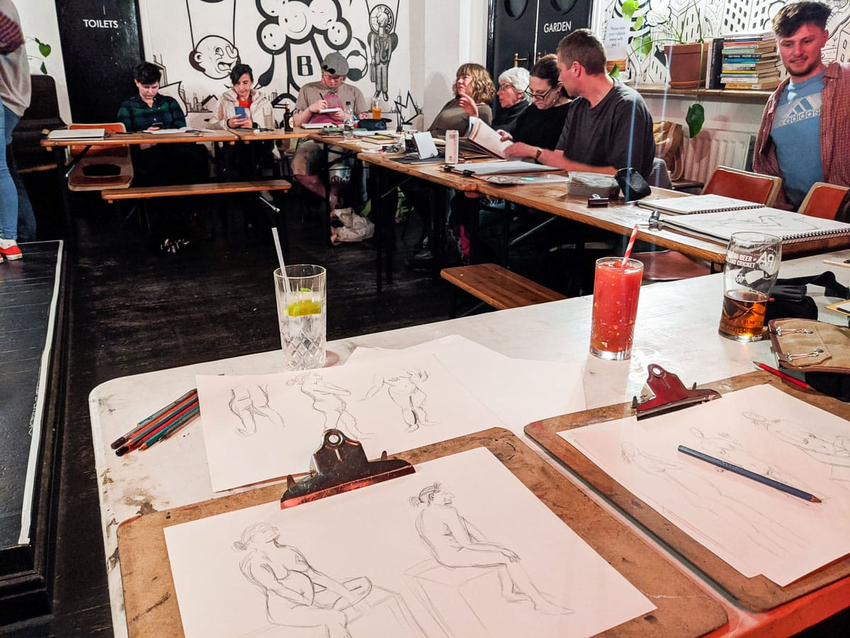 Life drawing at The Birdcage, Norwich