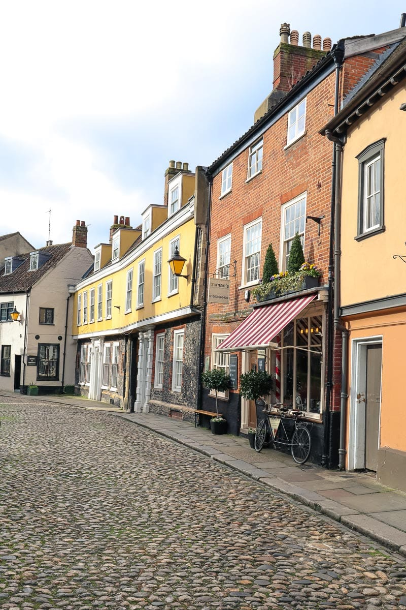 Pretty streets of Norwich, England